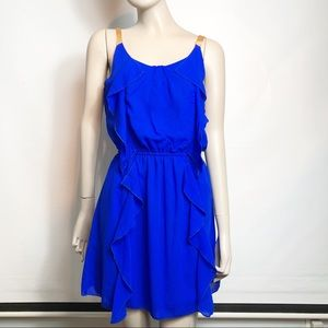 Pinky Electric Blue & Gold Strap Dress NWT